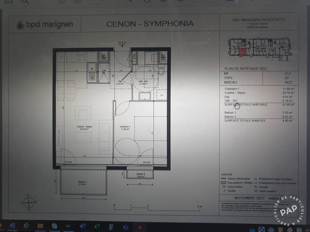 Vente appartement 2 pièces Cenon (33150)