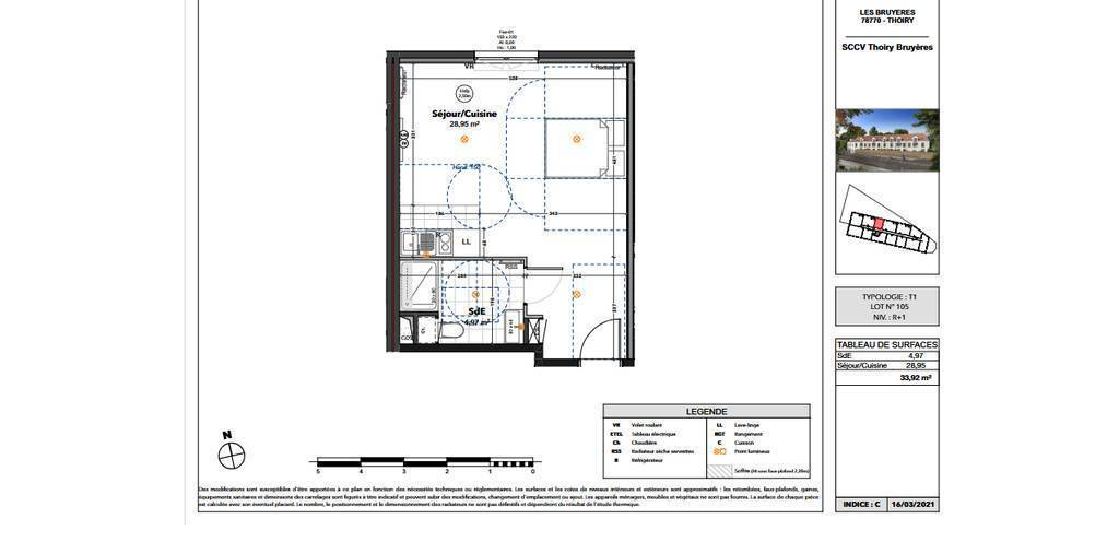 Vente appartement studio Thoiry (78770)