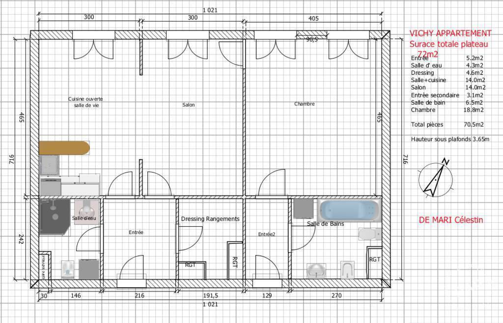 Appartement 170.000€ 72m² Vichy (03200)
