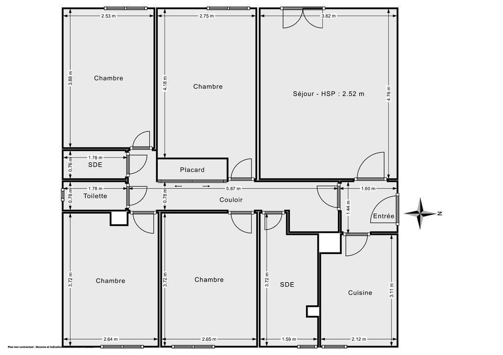 Vente Appartement Taverny (95150) 83m² 220.000€