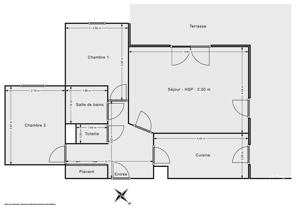 Vente Appartement Dijon (21000) 65m² 210.000€