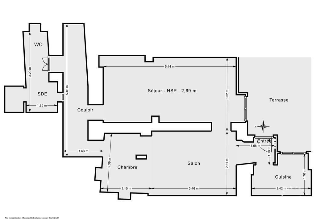 Vente Paris 18E (75018) 44m²
