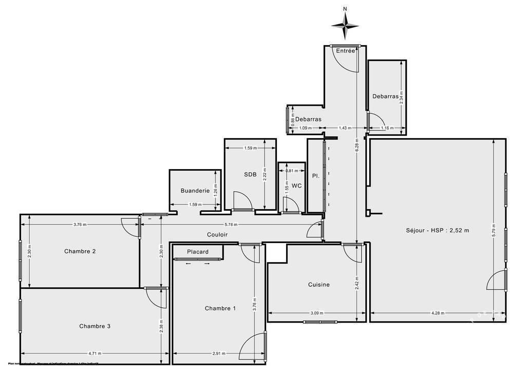 Vente Appartement Nantes (44300) 90m² 248.000€