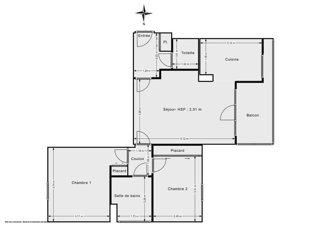 Vente Appartement Maisons-Alfort (94700) 59m² 390.000€