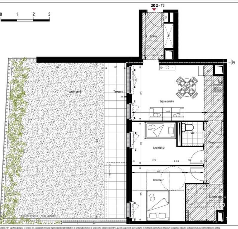 Vente Appartement Clichy (92110) 77m² 520.000€