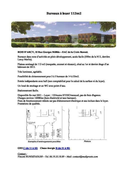 Immobilier Bois-D'arcy (78390) 1.357€ 113m²