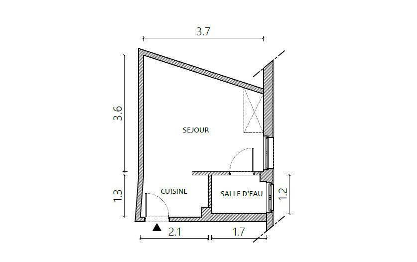 Immobilier Paris 18E (75018) 168.000€ 16m²