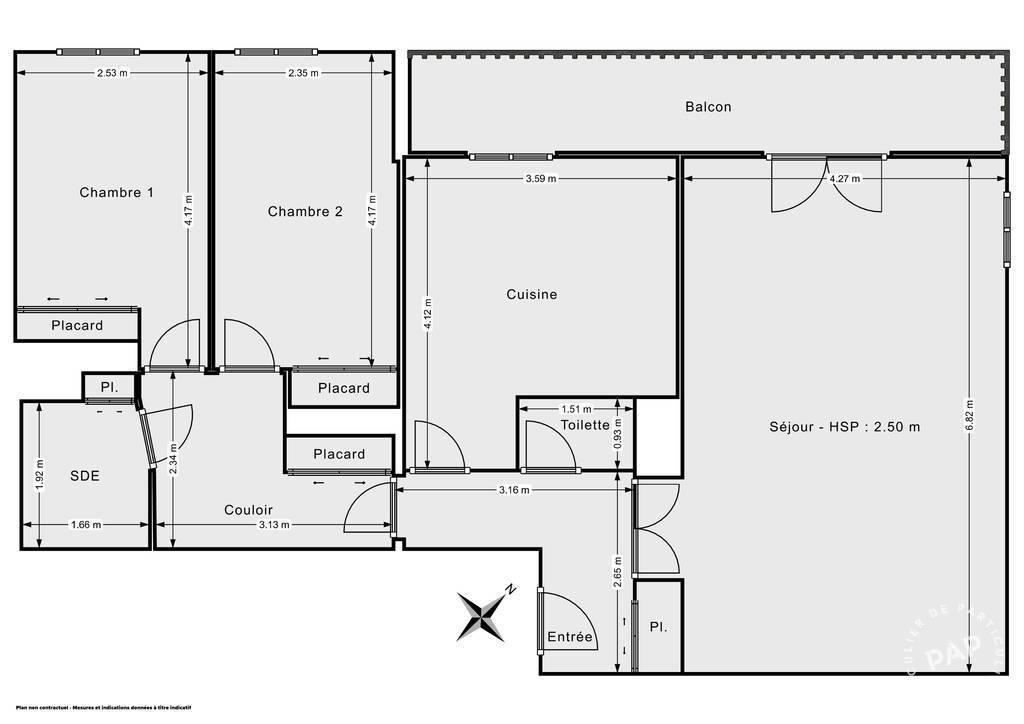 Vente Appartement Carrières-Sur-Seine (78420) 81m² 445.000€