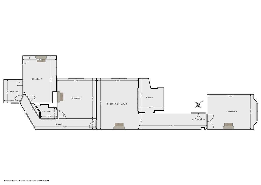 Vente Appartement Bel Haussmannien - Paris 19E (75019)