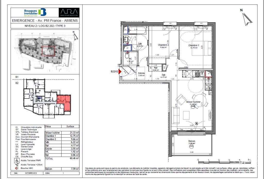 Vente appartement 3 pièces Amiens (80)