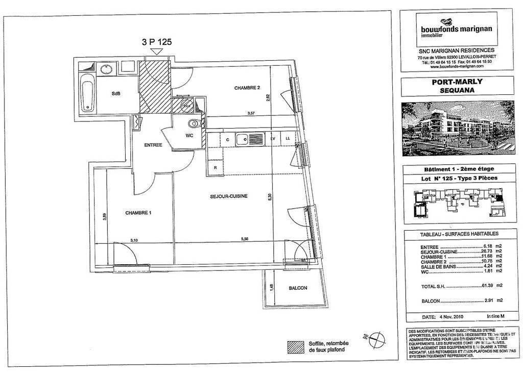 Vente Appartement Le Port-Marly (78560) 62m² 320.000€