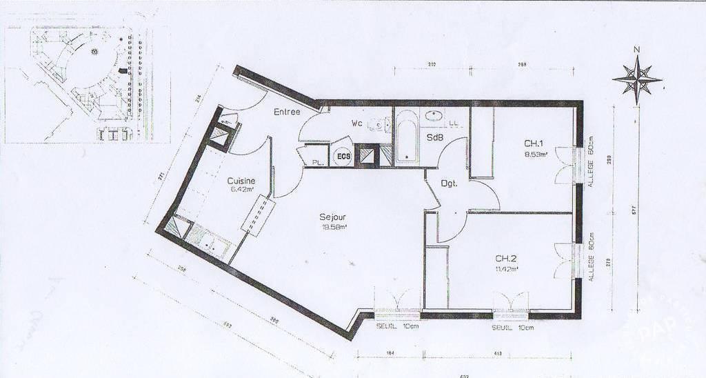 Vente Appartement 57m²