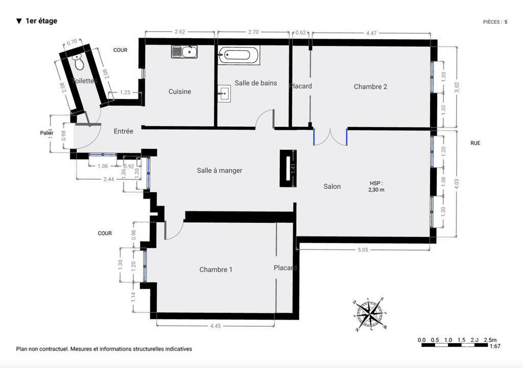Immobilier Paris 10E (75010) 910.000€ 89m²