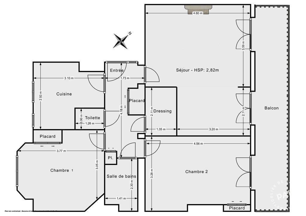 Vente Appartement Paris 14E (75014) 69m² 790.000€