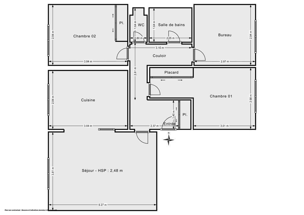 Vente Appartement Argenteuil, Quartier Champioux 77m² 225.000€