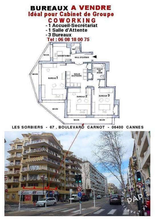 Vente et location Bureaux, local professionnel Cannes (06400) 67m² 295.000€
