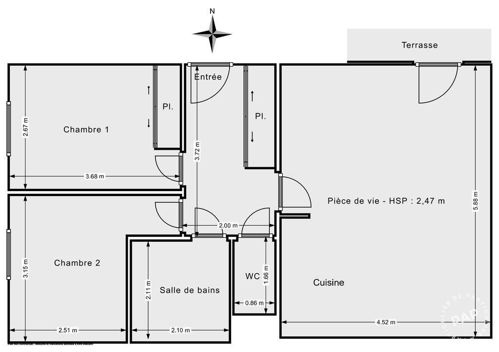Vente Appartement Vitry-Sur-Seine (94400) 60m² 355.000€