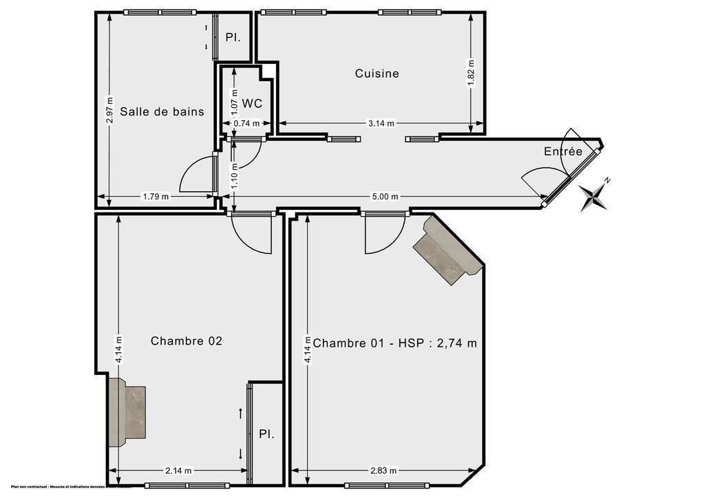 Vente Appartement Paris 14E (75014) 42m² 405.000€