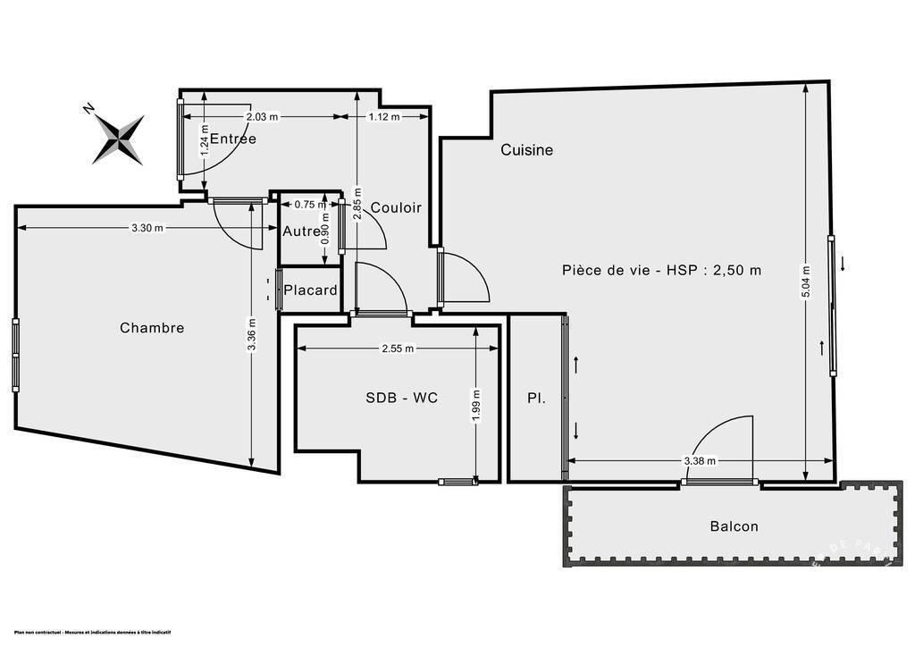 Vente Appartement Vallauris (06220) 43m² 160.000€