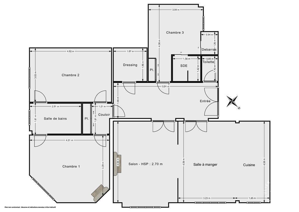 Vente Appartement Asnières-Sur-Seine (92600) 108m² 870.000€