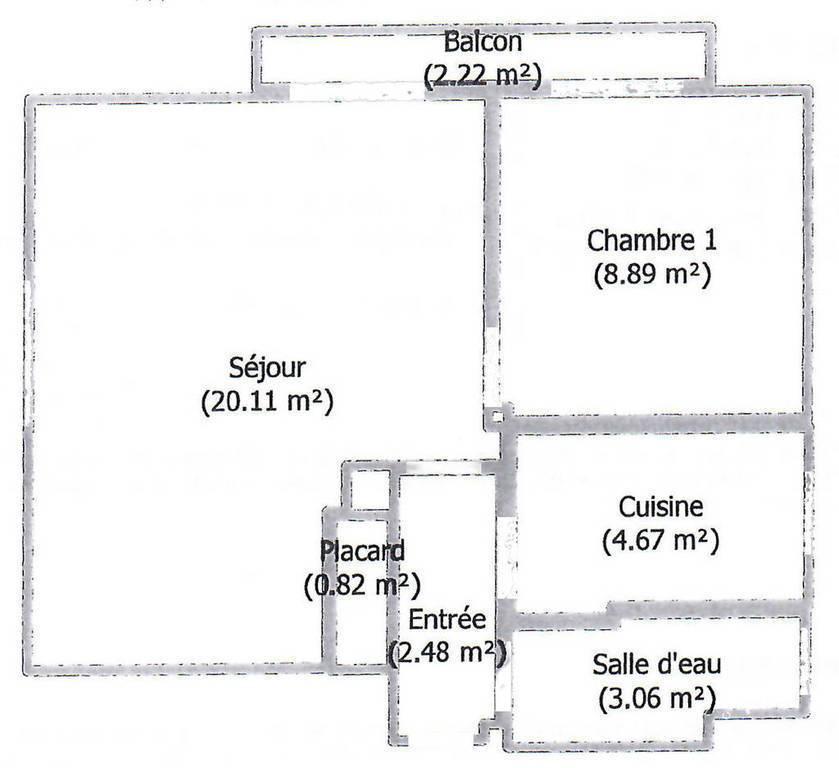 Location appartement 2 pièces Noisy-le-Grand (93160)