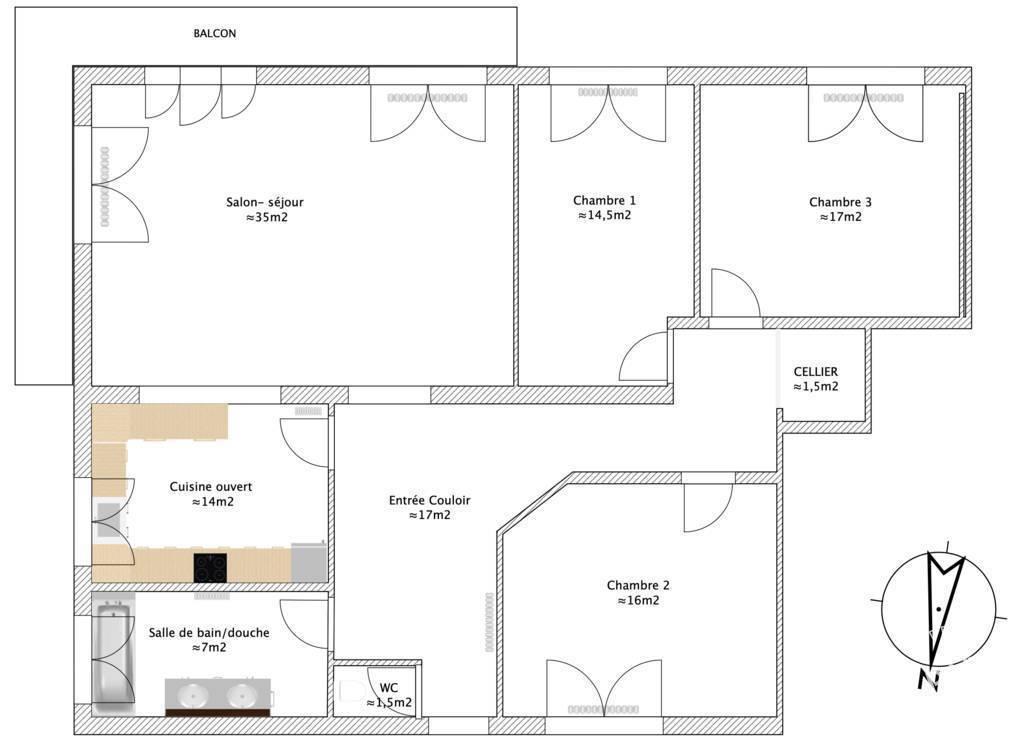 Vente appartement 5 pièces Marange-Silvange (57535)