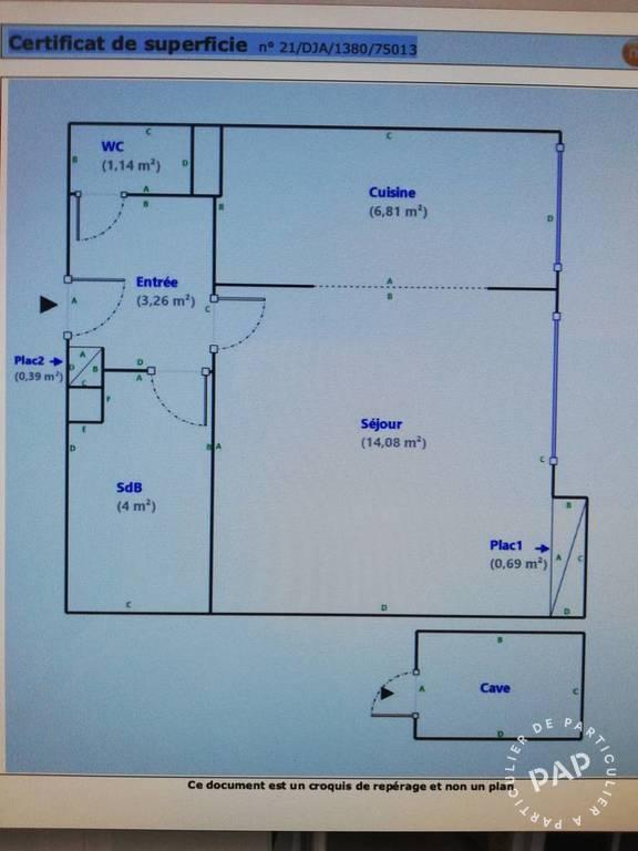 Appartement 319.000€ 31m² Paris 13E (75013)