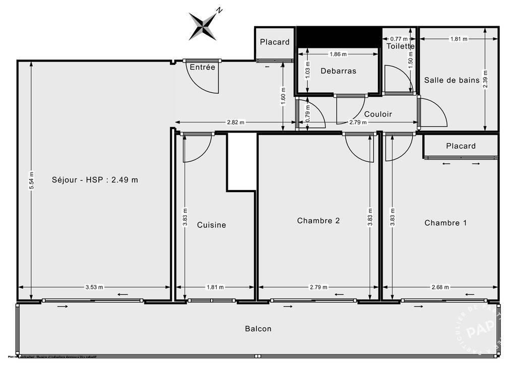 Vente Appartement Paris 19E (75019) 63m² 642.000€