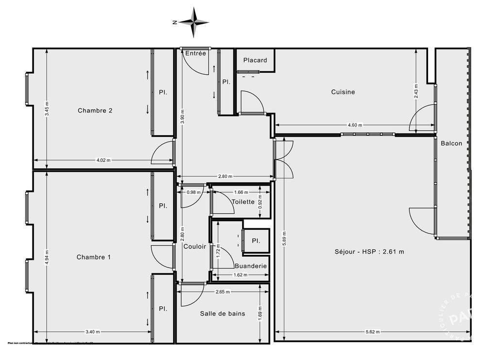 Vente Appartement Lyon 6E (69006) 94m² 675.000€