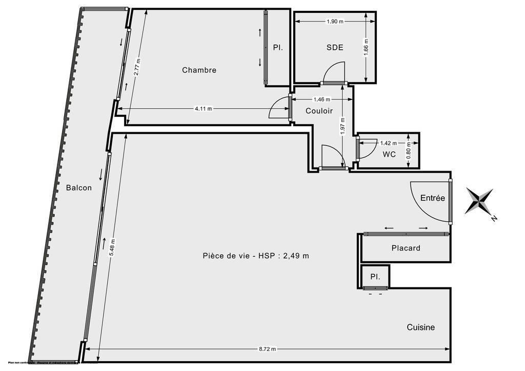 Vente Appartement Puteaux (92800) 61m² 480.000€