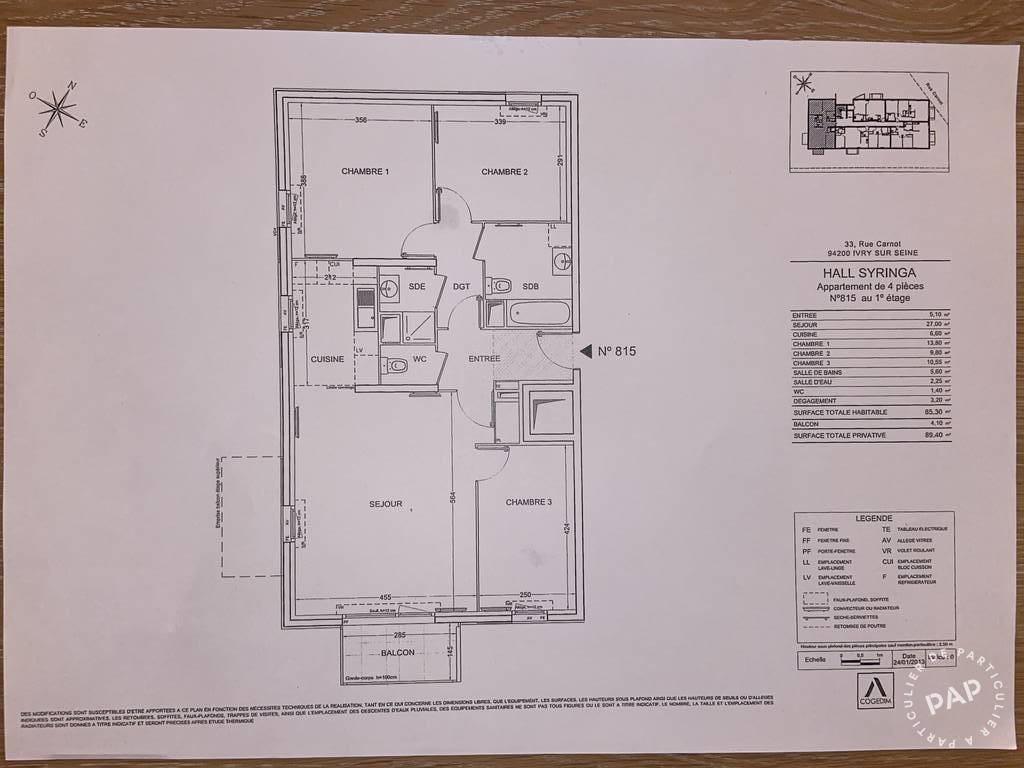 Vente immobilier 550.000€ Ivry-Sur-Seine (94200)