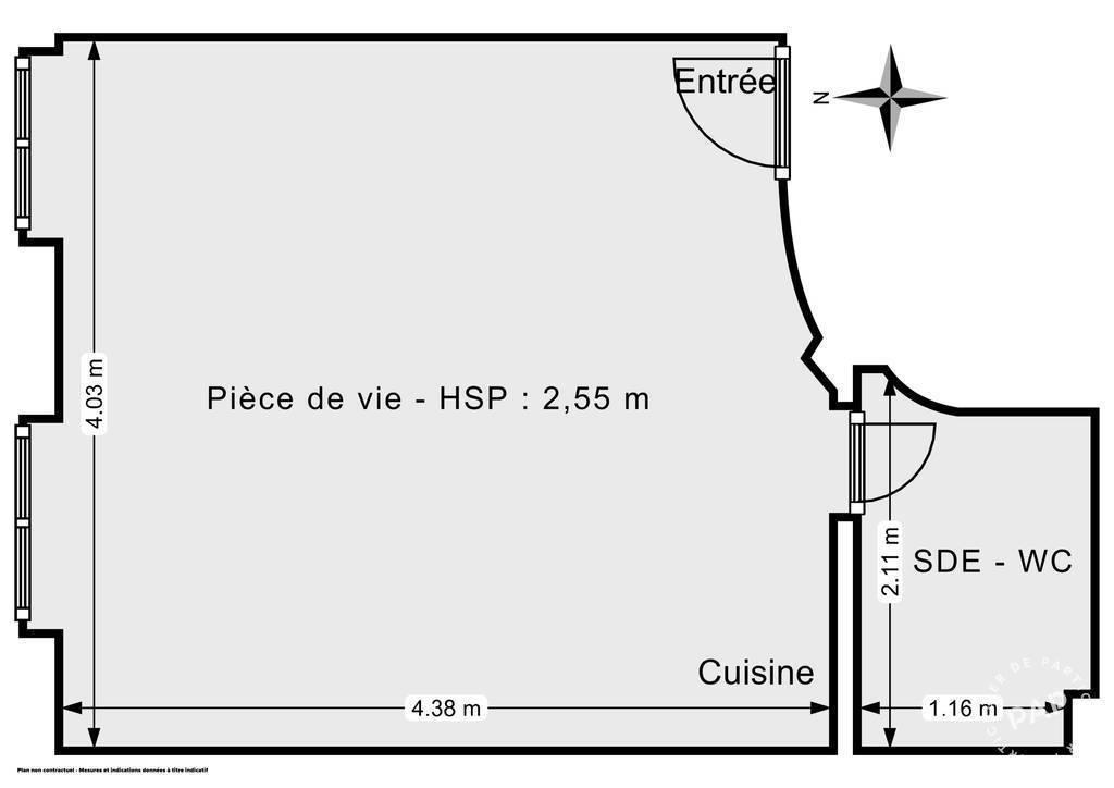 Appartement 210.000€ 20m² Paris 20E (75020)