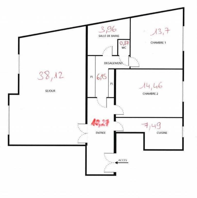 Appartement 950.000€ 95m² Paris 16E (75016)