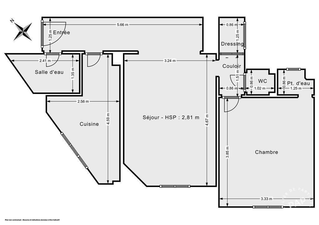 Vente Appartement Paris 15E (75015) 52m² 570.000€