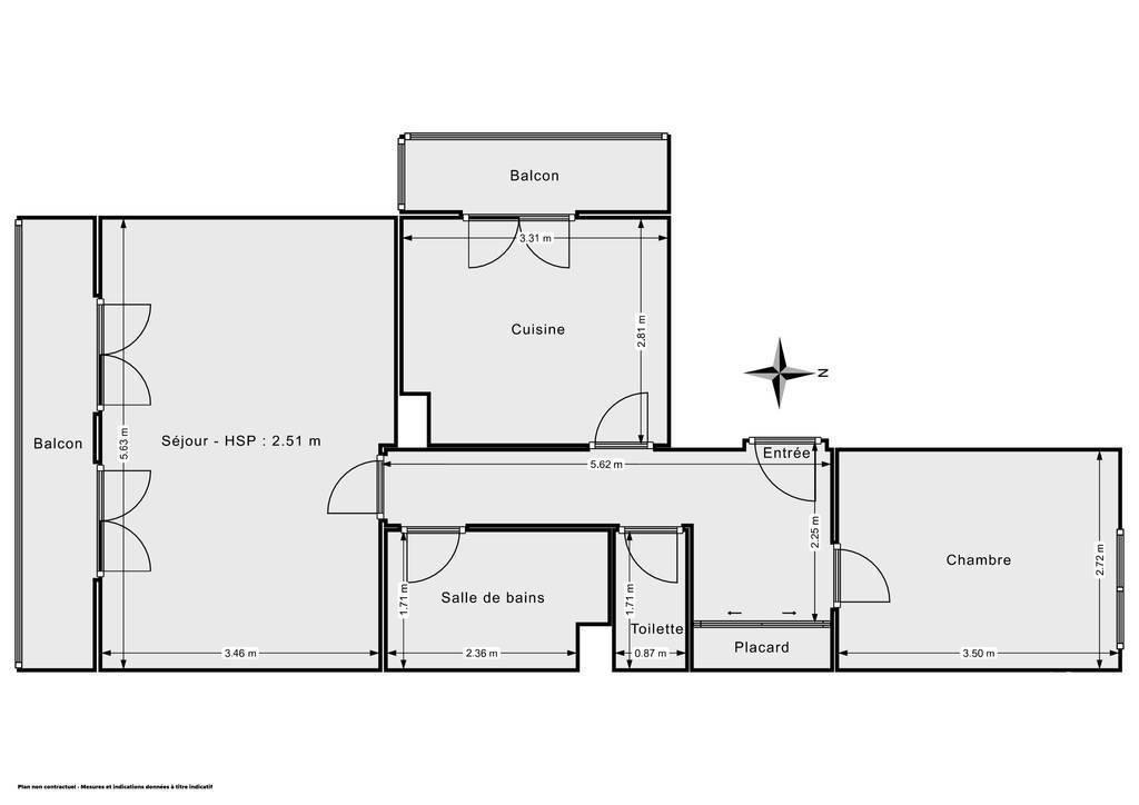 Vente Appartement Marseille 12E (13012) 53m² 169.000€