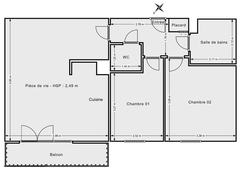 Vente Appartement Sierentz 63m² 189.000€