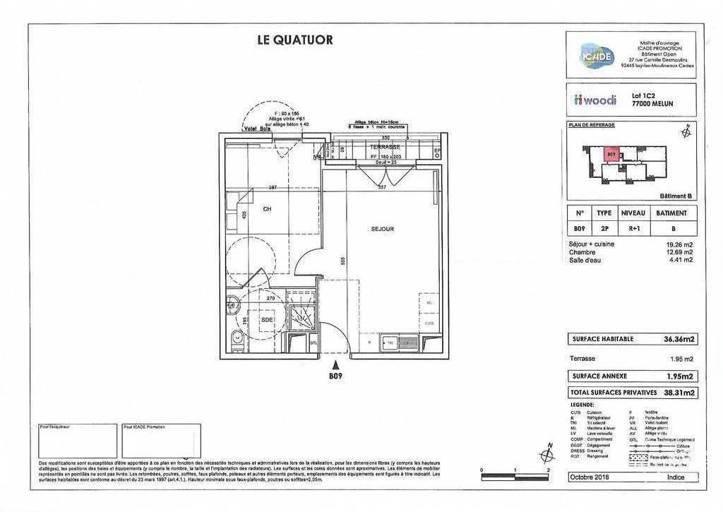 Vente Appartement Melun (77000) 36m² 150.000€