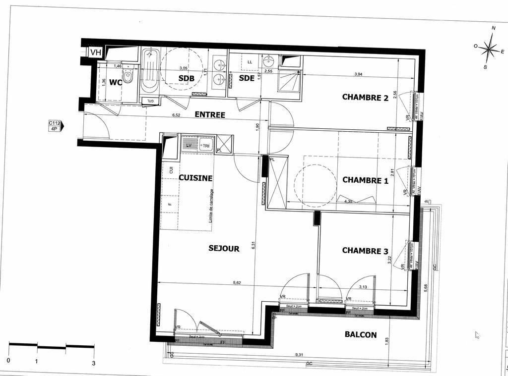 Vente Appartement Villejuif (94800) 86m² 549.000€
