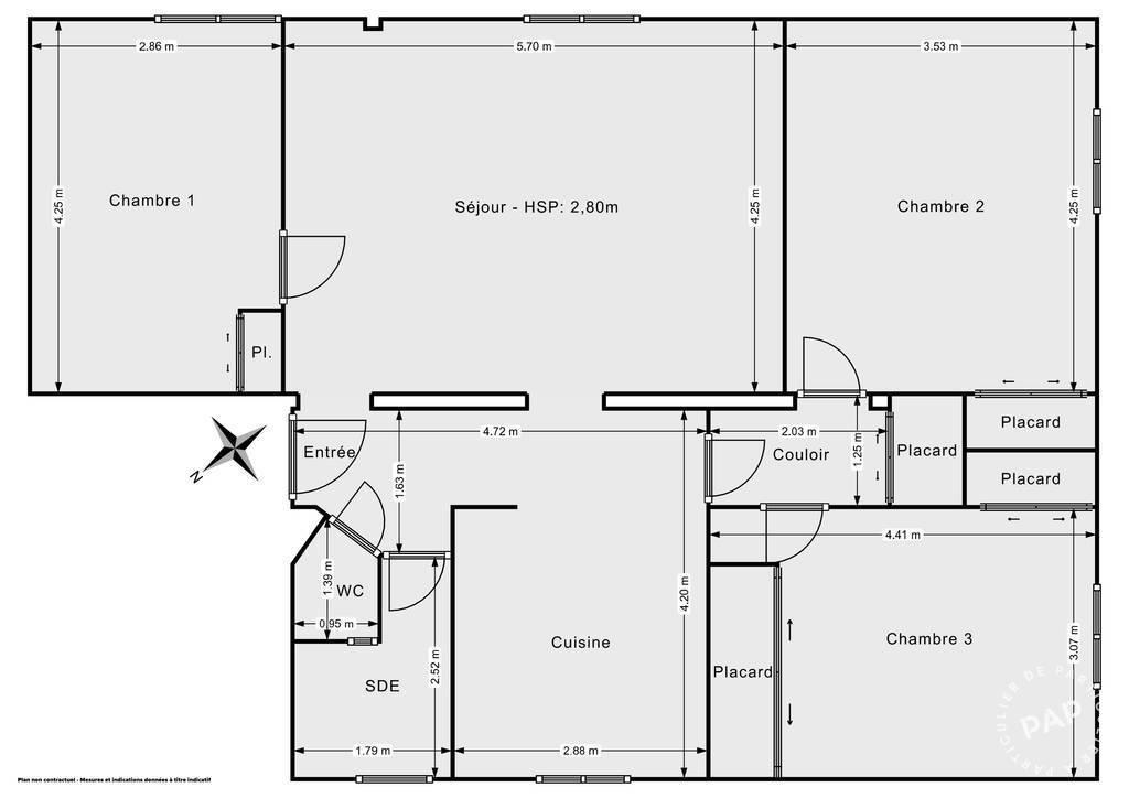 Vente Appartement Traversant Et Lumineux - Montpellier (34090) 85m² 260.000€