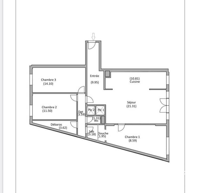 Appartement 830.000€ 92m² Paris 19E (75019)