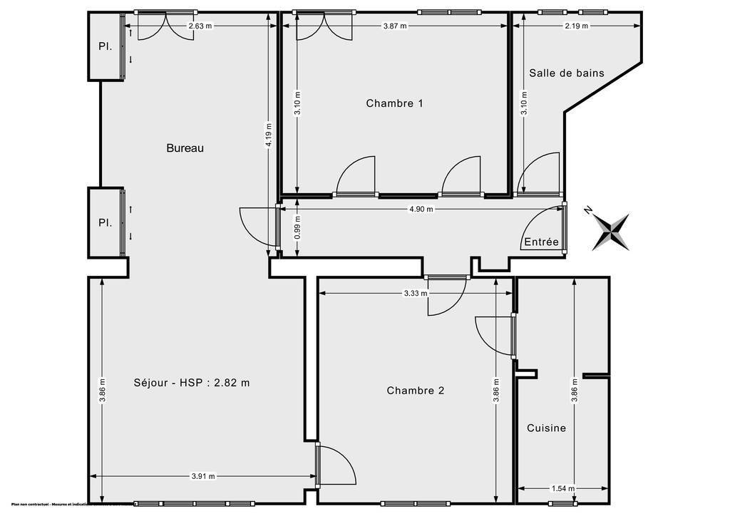 Vente Appartement Versailles (78000) 68m² 580.000€