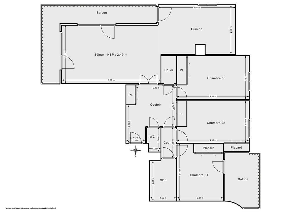 Vente Appartement Saint-Martin-D'hères (38400) 87m² 220.000€