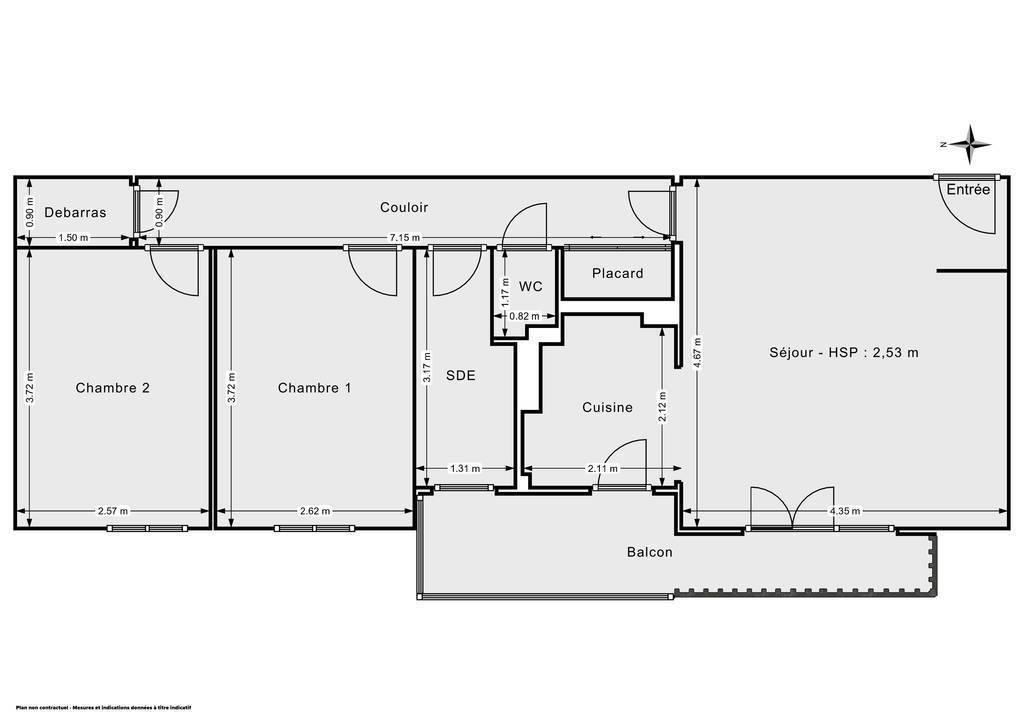 Vente Appartement Rezé (44400) 57m² 172.000€