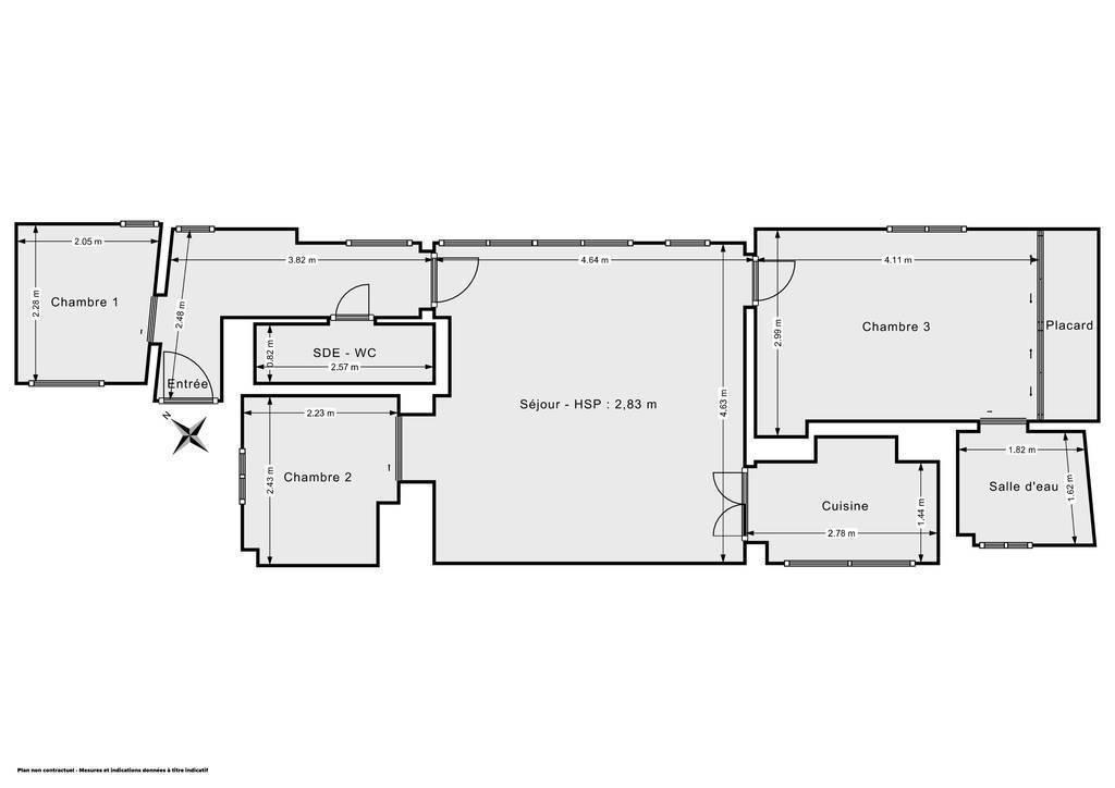 Vente Appartement Juan Les Pins 59m² 245.000€