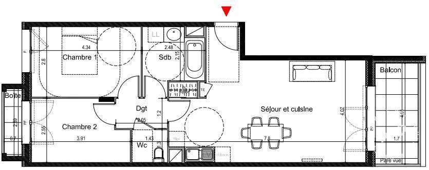 Vente Appartement 62m²