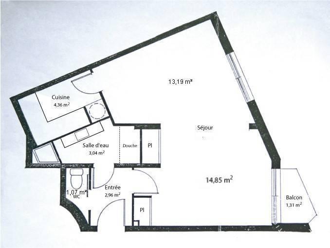 Appartement 499.000€ 40m² Paris 13E
