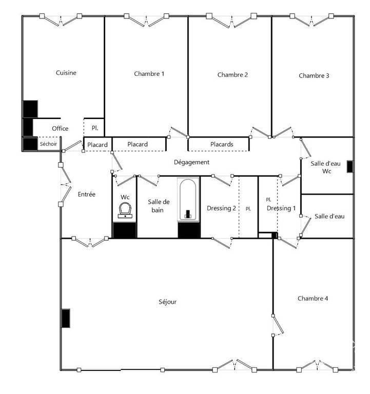 Appartement 680.000€ 141m² Versailles (78000)