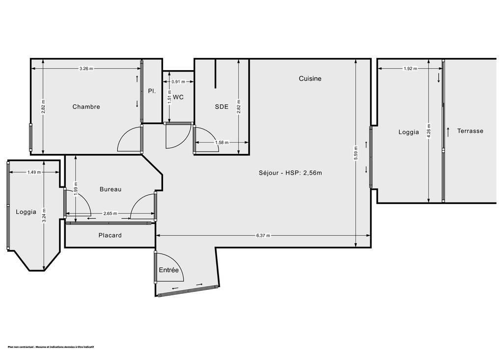 Vente Appartement Montpellier (34090) 53m² 240.000€