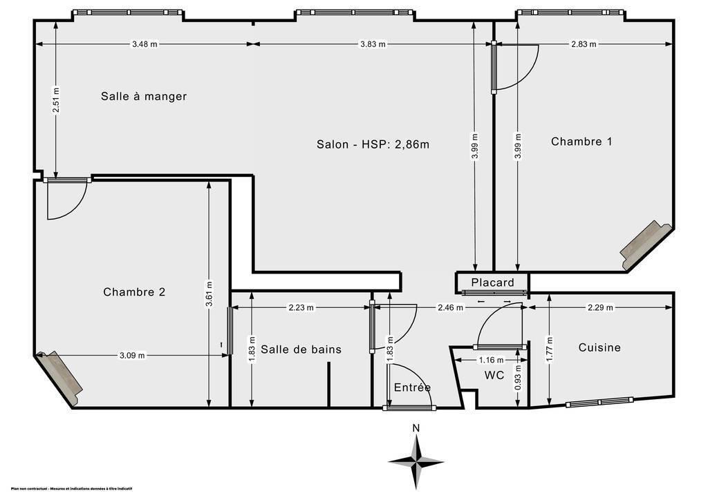 Vente Appartement Paris 20E (75020) 58m² 530.000€