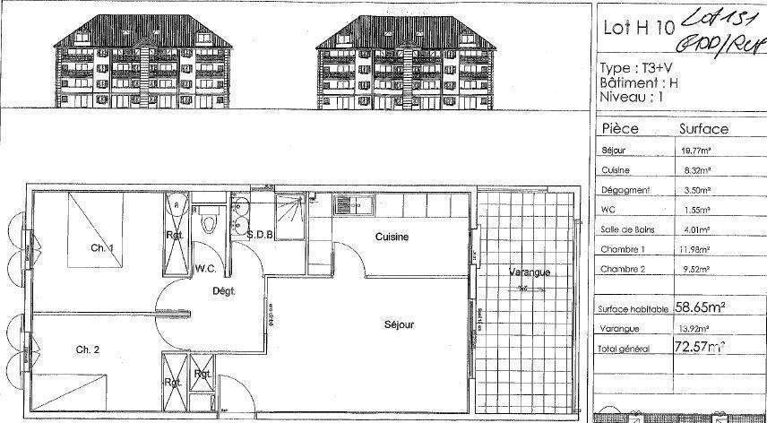 Vente Appartement Saint-André (97440) 58m² 112.000€